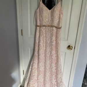Bella Rose pale pink prom dress
